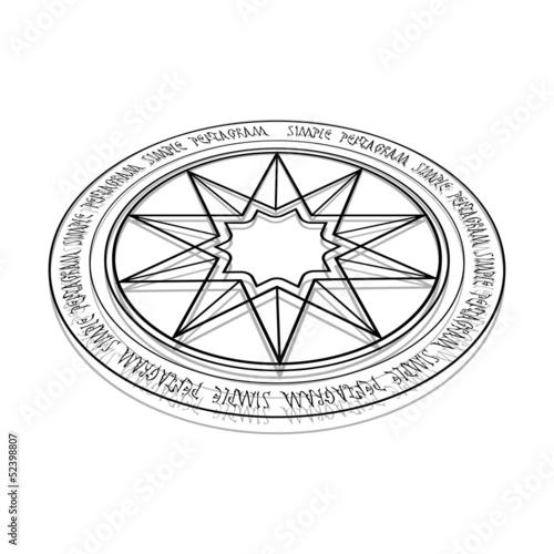 Photo  Simple pentagram