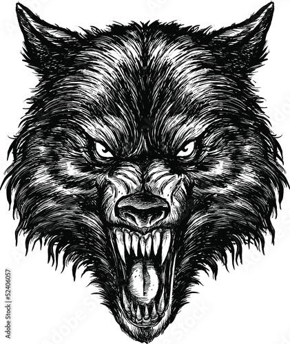 reka-rysujacy-wilczy-ilustracyjny-wektor