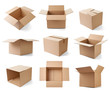 canvas print picture - cardboard box package moving transportation delivery