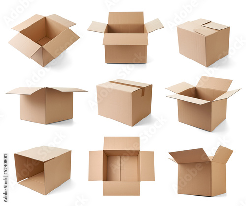 Fototapeta cardboard box package moving transportation delivery