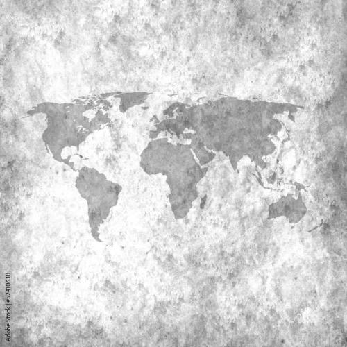 Fototapeta mapa czarno-biala-mapa-swiata