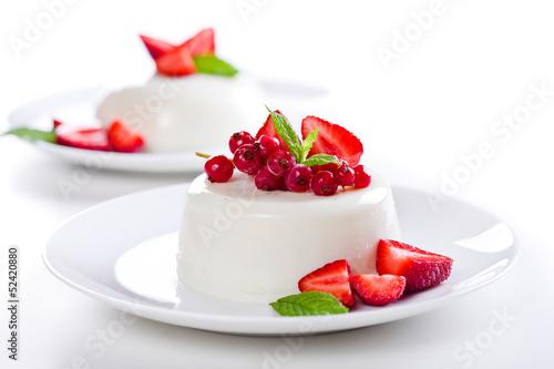 Foto op Plexiglas Dessert Panna Cotta