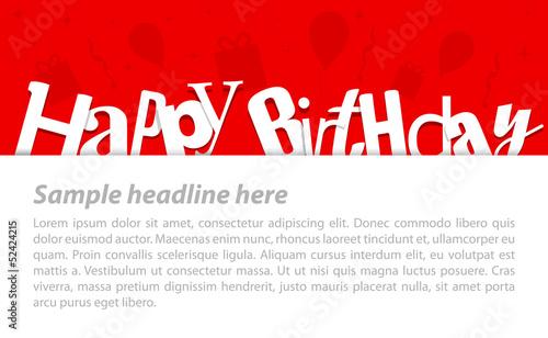 Photo  Happy birthday card. Vector illustration.