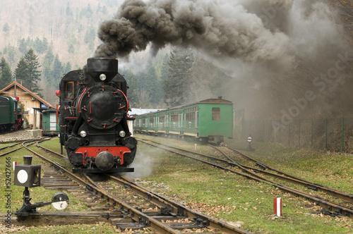 Carta da parati steam engine train