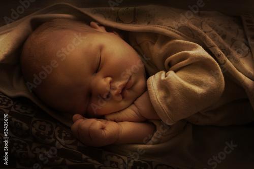 Fototapeta sleeping newborn obraz