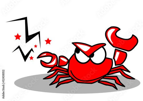 Crabe Crustace Personnage Bande Dessinee Pince Pincer Buy This Stock Vector And Explore Similar Vectors At Adobe Stock Adobe Stock