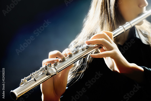 Acrylic Prints Music Flute music instrument flutist playing