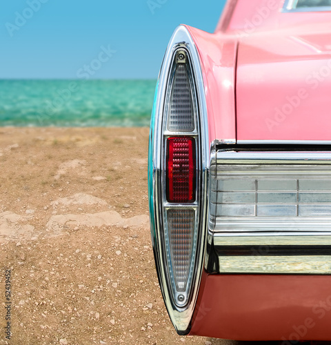 Poster  Pink Classic Car