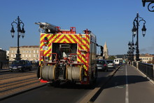 Fire Engine Driving Over A Bri...