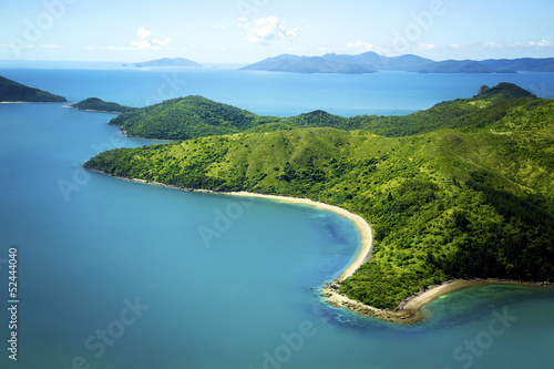 Poster Australie Aerial of Whitsunday Island