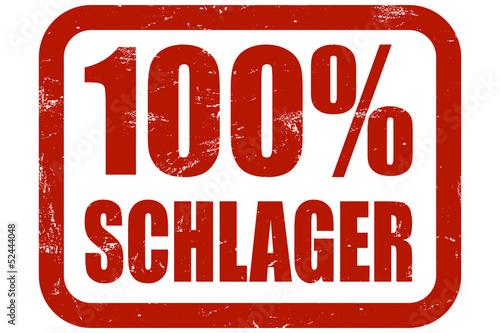 Fotografía  Grunge Stempel rot 100% SCHLAGER