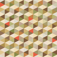 Fototapeta Vintage Geometric Background - Seamless Pattern in Vintage Colors