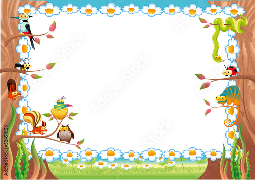 Poster Chambre d enfant Funny card with empty space for text.