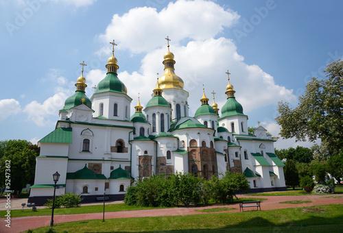 Photo Stands Kiev Saint Sophia Cathedral in Kiev, Ukraine