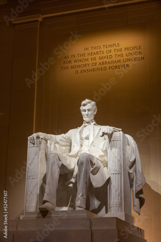 Photographie  Abraham Lincoln monument in Washington, DC