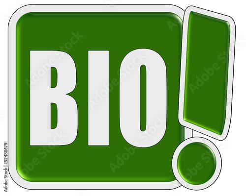 !-Schild grün quad BIO Wallpaper Mural