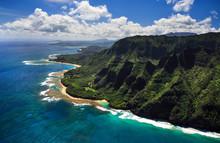 Aerial View Of Kauai Coast