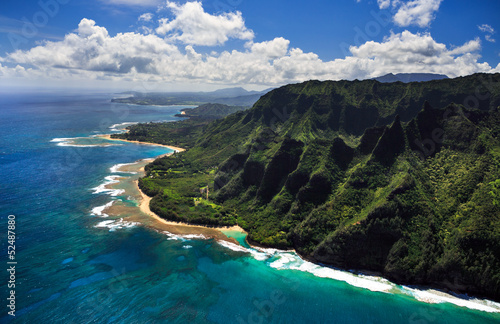 Aerial View of Kauai Coast
