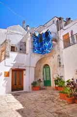 Fototapeta na wymiar Alleyway. Ceglie Messapica. Puglia. Italy.