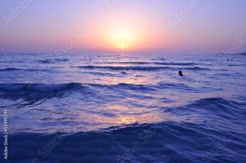 Fotografie, Obraz  Deep Sunset at Persian Gulf in Dubai, UAE