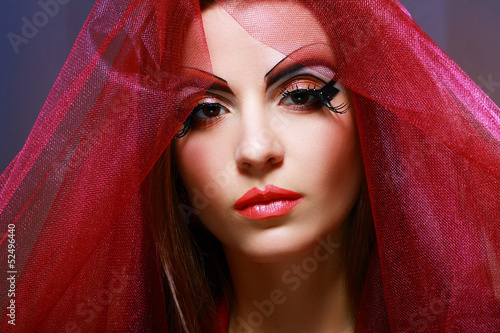 Photo  woman with creative make up