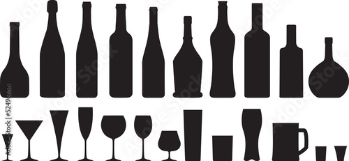 Fototapeta glass and bottle obraz
