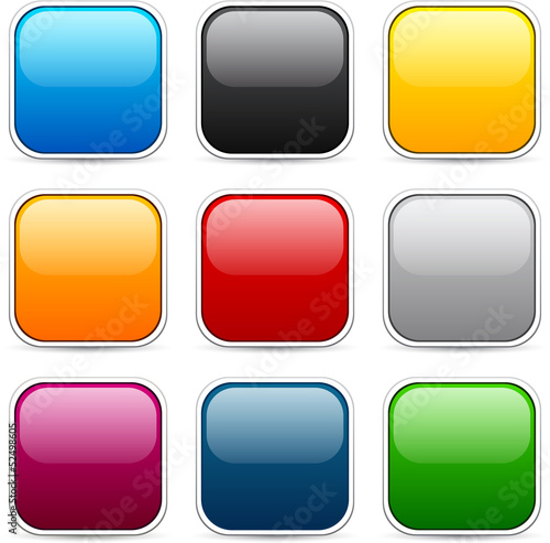 Poster  Square color icons.