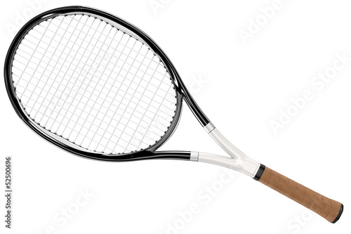 Fotografie, Obraz Tennis Racket Black and White