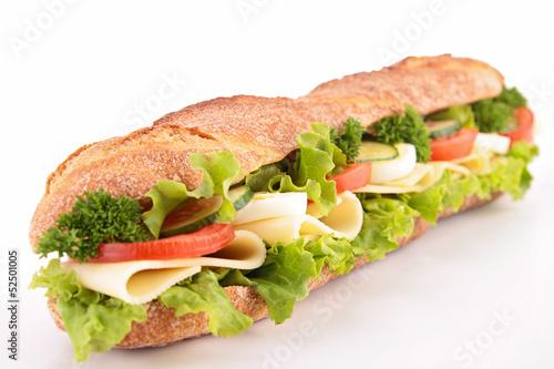 Foto op Canvas Snack vegetarian sandwich
