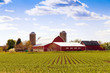 canvas print picture - Traditional American Farm