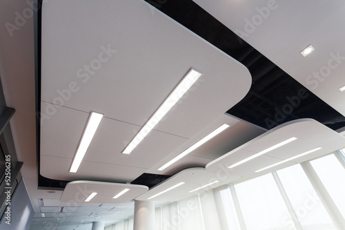 Obraz Modern ceiling with lighting - fototapety do salonu