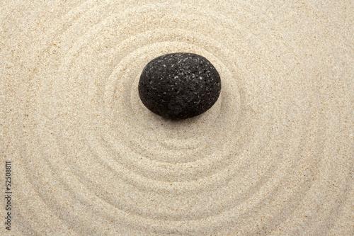 Photo sur Plexiglas Zen pierres a sable galet zen