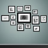 Fototapeta Młodzieżowe - Picture frame vector. Vintage photo frames on wall