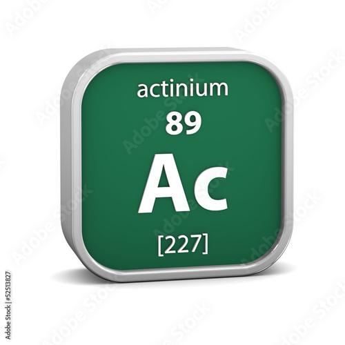 Actinium material sign Wallpaper Mural