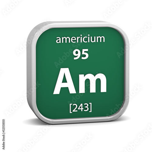 Photo Americium material sign