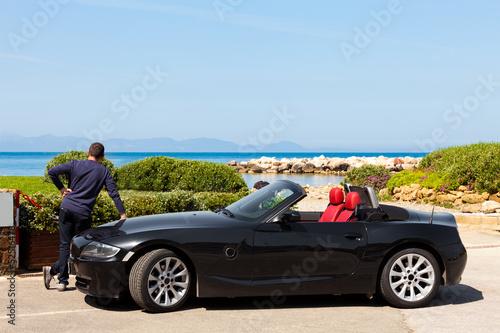Plakat  Man With Sport Car