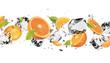 Leinwandbild Motiv Ice fruit on white background