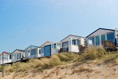 Fotografie, Obraz Beach huts in Holland