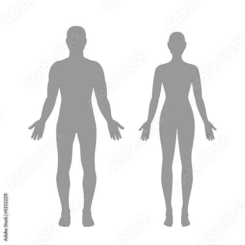 Fotografía  Male and female silhouettes
