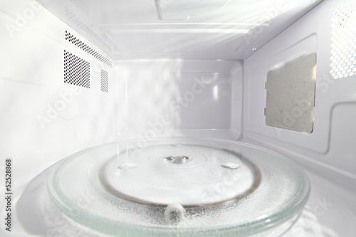 Inside of microwave