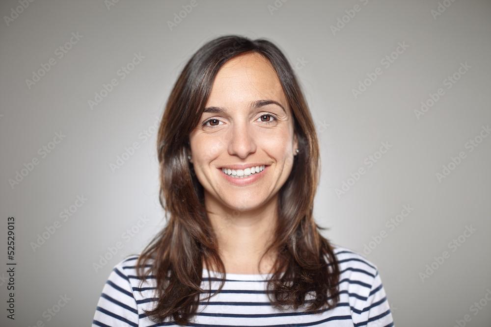 Fototapeta Portrait of a normal girl smiling