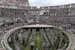 Inside of The Colosseum, the arena and the basement, Rome,Italy.