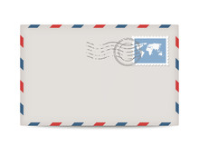 Vector Postage Envelope With S...