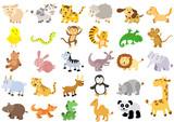 Fototapeta Fototapety na ścianę do pokoju dziecięcego - Extra large set of animals