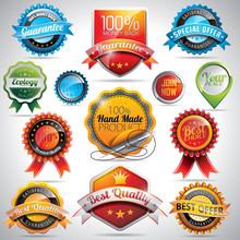 Vector Set Of Labels And Badges Illustration