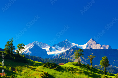Deurstickers Alpen Alps mountains