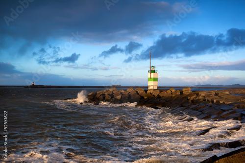 Fototapeta lighthouse on North sea, Ijmuiden