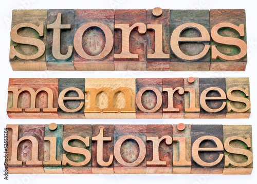 stories, memories, histories Canvas-taulu