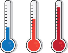Isolated Thermometers In Diffe...