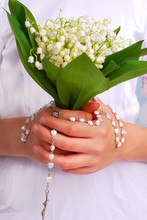 Lily Of The Valley Bunch For The First Holly Communion